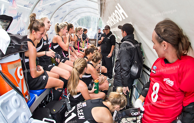 23/06/2015<br /> HWL Semi Final Antwerp Belgium 2015<br /> New Zealand v India Women<br /> New Zealand<br /> Photo: Grant Treeby