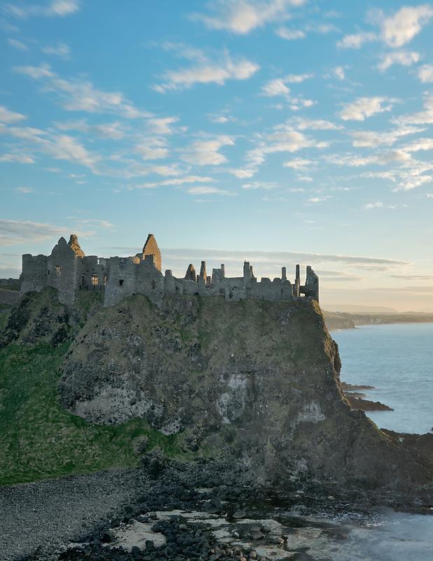 Dunluce Castle,at sunset. Northern Ireland.