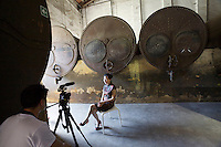 """13th Biennale of Architecture..Arsenale..Chinese Pavillion..Interview with the exhibiting artist Tao Na, """"Palace in the Sky""""."""