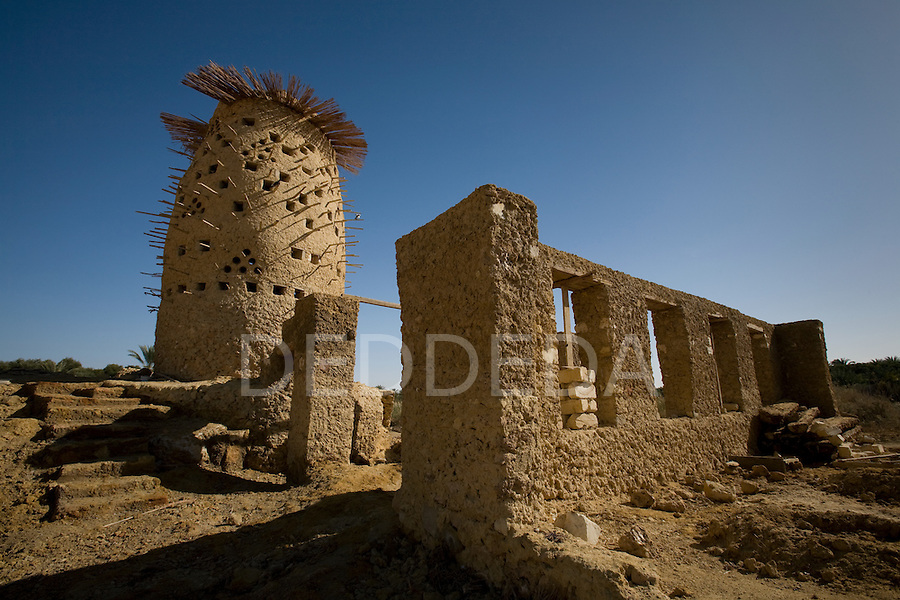 A mudbrick pigeon house in the Siwa Oasis, Egypt.