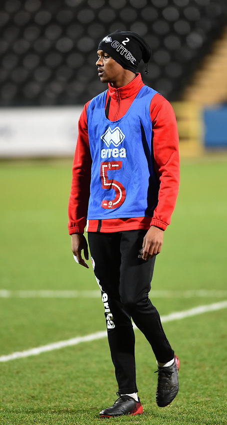 Crawley Town&rsquo;s Joe McNerney during the pre-match warm-up <br /> <br /> Photographer Jon Hobley/CameraSport<br /> <br /> The EFL Sky Bet League Two - Notts County v Crawley Town - Tuesday 23rd January 2018 - Meadow Lane - Nottingham<br /> <br /> World Copyright &copy; 2018 CameraSport. All rights reserved. 43 Linden Ave. Countesthorpe. Leicester. England. LE8 5PG - Tel: +44 (0) 116 277 4147 - admin@camerasport.com - www.camerasport.com