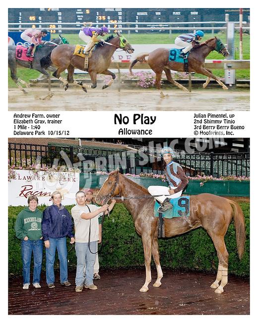 No Play winning at Delaware Park on 10/15/12