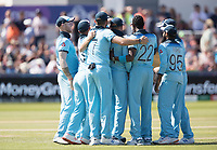 England celebrate the wicket of Guptill during England vs New Zealand, ICC World Cup Cricket at The Riverside Ground on 3rd July 2019