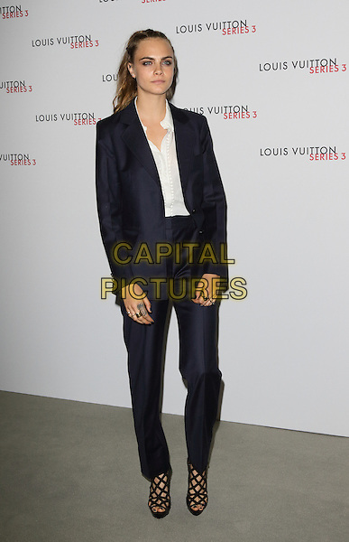 LONDON, ENGLAND - Cara Delevingne at the Louis Vuitton series 3 Exhibition Launch Party, on September 20th 2015 in London, England<br /> CAP/ROS<br /> &copy;Steve Ross/Capital Pictures
