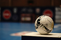 20191010 - HALLE: Match ball is picture before the UEFA Futsal Champions League Main Round match between FP Halle-Gooik (BEL) and Kherson (UKR) on1 0th October 2019 at De Bres Sportcomplex, Halle, Belgium. PHOTO SPORTPIX | SEVIL OKTEM