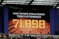 A world record attendance of 71,898 during the iRB Marriott London Sevens at Twickenham on Saturday 11th May 2013 (Photo by Rob Munro)