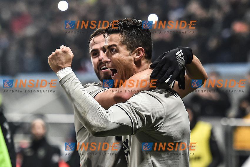 Cristiano Ronaldo Juventus celebrates after scoring a goal<br /> Reggio Emilia 10-2-2019 Stadio Mapei, Football Serie A 2018/2019 Sassuolo - Juventus<br /> Foto Andrea Staccioli / Insidefoto