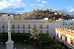 Mirador del Cerro de San Cristobal, Plaza Vieja, Plaza de la Constitucion, City of Almeria, SpainCity of Almeria, Spain