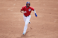 Buffalo Bisons first baseman Chris Colabello (15) running the bases during a game against the Syracuse Chiefs on July 31, 2016 at Coca-Cola Field in Buffalo, New York.  Buffalo defeated Syracuse 6-5.  (Mike Janes/Four Seam Images)
