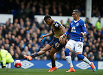 Alex Iwobi of Arsenal scores the second goal during the Barclays Premier League match at The Goodison Park Stadium. Photo credit should read: Simon Bellis/Sportimage