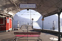 - Lugano, landing place for tourist boats....- Lugano, approdo dei battelli turistici
