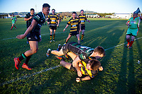 Action from the Wairarapa Bush premier club rugby union match between Martinborough and Eketahuna at Coronation Park in Martinborough, New Zealand on Saturday, 11 July 2020. Photo: Dave Lintott / lintottphoto.co.nz