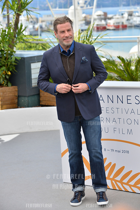 John Travolta at the photocall for &quot;Gotti&quot; at the 71st Festival de Cannes, Cannes, France 15 May 2018<br /> Picture: Paul Smith/Featureflash/SilverHub 0208 004 5359 sales@silverhubmedia.com