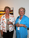 Rosaleen Collier Collon and Rose Laverty Dundalk pictured at the opening of the Song of Amergin art exhibition in the Highlanes gallery. Photo: www.pressphotos.ie