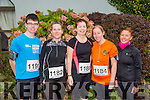 l-r  Zack Brosnan, Martina Coffey, Betty Brosnan, Karen Nelligan and Clodagh O'Dowd at the Churchill GAA 10K on Sunday