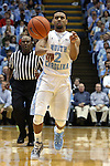 27 December 2014: North Carolina's Joel Berry II. The University of North Carolina Tar Heels played the University of Alabama Birmingham Blazers in an NCAA Division I Men's basketball game at the Dean E. Smith Center in Chapel Hill, North Carolina. UNC won the game 89-58.