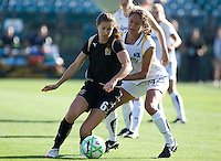 Brandi Chastain (6) controls the ball against Stephanie Cox (14). Los Angeles Sol defeated FC Gold Pride 2-0 at Buck Shaw Stadium in Santa Clara, California on May 24, 2009.