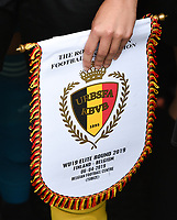 20190406  - Tubize , BELGIUM : illustration pictured during the soccer match between the women under 19 teams of Belgium and Finland , on the second matchday in group 2 of the UEFA Women Under19 Elite rounds in Tubize , Belgium. Saturday 6 th April 2019 . PHOTO DIRK VUYLSTEKE / Sportpix.be