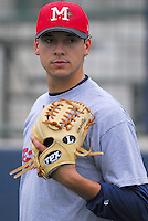 Pitcher Charlie Morton of the Mississippi Braves, the Atlanta Braves' Class AA affiliate of the Southern League, prior to a game April 23, 2007, against the Birmingham Barons at Trustmark Park in Pearl, Miss. Photo by:  Tom Priddy/Four Seam Images