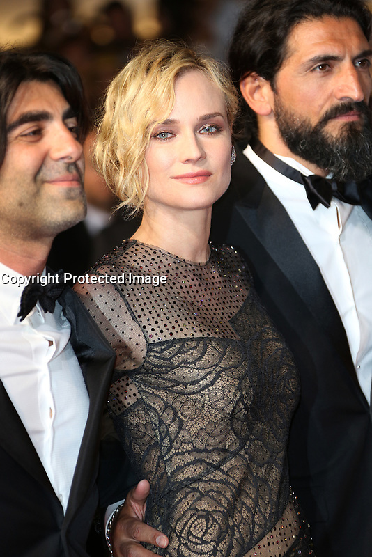 'In The Fade (Aus Dem Nichts)' Red Carpet Arrivals - The 70th Annual Cannes Film Festival<br /> CANNES, FRANCE - MAY 26: Denis Moschitto, director Fatih Akin, Diane Kruger and Numan Acar attends the 'In The Fade (Aus Dem Nichts)' screening during the 70th annual Cannes Film Festival at Palais des Festivals on May 26, 2017 in Cannes, France