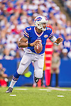 21 September 2014: Buffalo Bills quarterback EJ Manuel scrambles for yardage against the San Diego Chargers in the first quarter at Ralph Wilson Stadium in Orchard Park, NY. The Chargers defeated the Bills 22-10 in AFC play. Mandatory Credit: Ed Wolfstein Photo *** RAW (NEF) Image File Available ***
