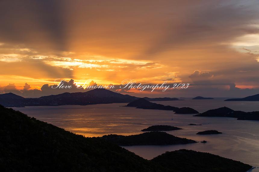 Sunset from St. John<br /> US Virgin Islands