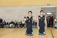 Action from the Wellington College Boys Basketball Div 2 Final between Heretaunga College and Taita College held at Te Rauparaha Arena, Porirua, New Zealand on 30 August 2012. Photo: john.mathews@xtra.co.nz