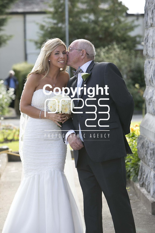 Bride  Grainne  Brosnan pictured with her Father Clem Brosnan at the church for her wedding to  Ex Munster & Ireland Rugby Player Denis Leamy  in Rockwell College Church Co.Tipperary Picture Credit: Brian Gavin Press 22