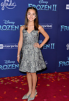 "LOS ANGELES, USA. November 08, 2019: Mattea Conforti at the world premiere for Disney's ""Frozen 2"" at the Dolby Theatre.<br /> Picture: Paul Smith/Featureflash"