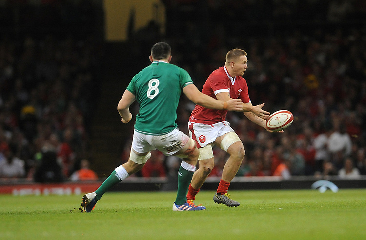 Wales James Davies during the game<br /> <br /> Photographer Ian Cook/CameraSport<br /> <br /> 2019 Under Armour Summer Series - Wales v Ireland - Saturday 31st August 2019 - Principality Stadium - Cardifff<br /> <br /> World Copyright © 2019 CameraSport. All rights reserved. 43 Linden Ave. Countesthorpe. Leicester. England. LE8 5PG - Tel: +44 (0) 116 277 4147 - admin@camerasport.com - www.camerasport.com