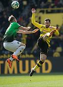 18th March 2018, Dortmund, Germany;  Football Bundesliga, Borussia Dortmund versus Hannover 96 at the Signal Iduna Park. Dortmund's Gonzalo Castro (r) and Felix Klaus of Hanover challenge for the ball.