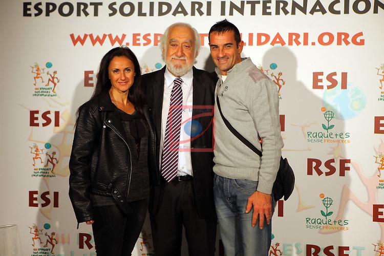 XIe Sopar Solidari d'ESI (Esport Solidari Internacional).<br /> Josep Maldonado Melcior Mauri &amp; Sra.