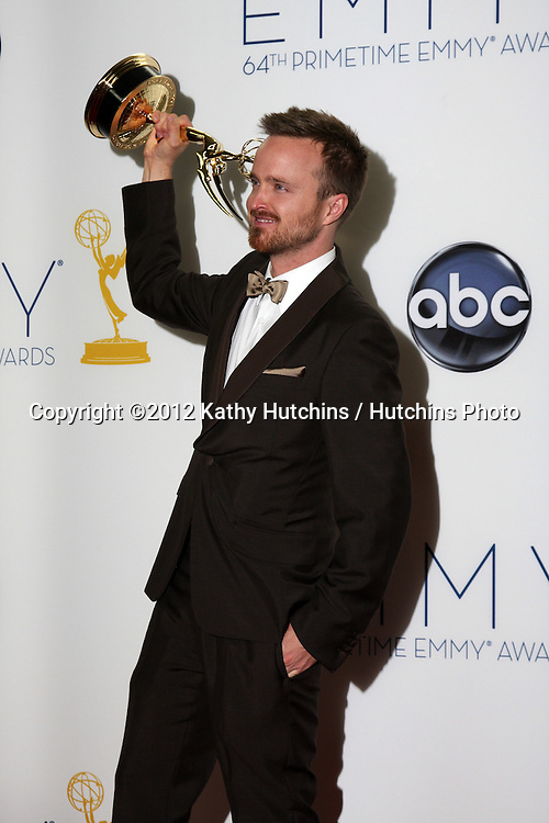 LOS ANGELES - SEP 23:  Aaron Paul in the press room of the 2012 Emmy Awards at Nokia Theater on September 23, 2012 in Los Angeles, CA