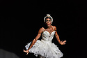 Les Ballets Trockadero de Monte Carlo (The Trocks) return to the UK and recives their Ireland premiere during an eight-wekk, twelve venue tour, that opens at the Peacock , London, on 12th September, and concludes at the Grand Opera House, Belfast, on 3rd November. the dancers are: Joshua Thake (Eugenia Repelski), Jack Furlong Jr (Guzella Verbitskaya), Alberto Pretto (Nina Immobilashvili), Roberto Vega (Mikhail Mypansarov), Kevin Garcia (Sergey Legupski), Duane Gosa (Helen Highwaters). Picture shows: Duane Gosa (Helen Highwaters) performing the Dying Swan.