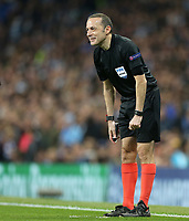 Referee Cuneyt Cakır<br /> <br /> Photographer Rich Linley/CameraSport<br /> <br /> UEFA Champions League - Quarter-finals 2nd Leg - Manchester City v Tottenham Hotspur - Wednesday April 17th 2019 - The Etihad - Manchester<br />  <br /> World Copyright © 2018 CameraSport. All rights reserved. 43 Linden Ave. Countesthorpe. Leicester. England. LE8 5PG - Tel: +44 (0) 116 277 4147 - admin@camerasport.com - www.camerasport.com