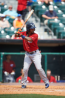 Columbus Clippers second baseman Michael Martinez (7) at bat during a game against the Buffalo Bisons on July 19, 2015 at Coca-Cola Field in Buffalo, New York.  Buffalo defeated Columbus 4-3 in twelve innings.  (Mike Janes/Four Seam Images)