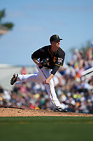Pittsburgh Pirates relief pitcher Eric O'Flaherty (34) delivers a pitch during a Spring Training game against the Boston Red Sox on March 9, 2016 at McKechnie Field in Bradenton, Florida.  Boston defeated Pittsburgh 6-2.  (Mike Janes/Four Seam Images)