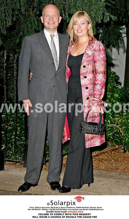 ALL ROUND PICTURES FROM SOLARPIX.COM. .William and Ffion Hague arrive for the David Frost Summer party in Carlyle Square, London on 05.07.06. Job Ref: 2548/SFE..MUST CREDIT SOLARPIX.COM OR DOUBLE FEE WILL BE CHARGED..