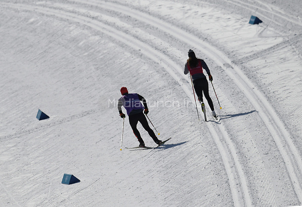 Athletes training in the Alpensia Biathlon Centre in Pyeongchang, South Korea, 07 February 2018. The Pyeongchang 2018 Winter Olympics take place between 09 and 25 February. Photo: Hendrik Schmidt/dpa-Zentralbild/dpa /MediaPunch ***FOR USA ONLY***