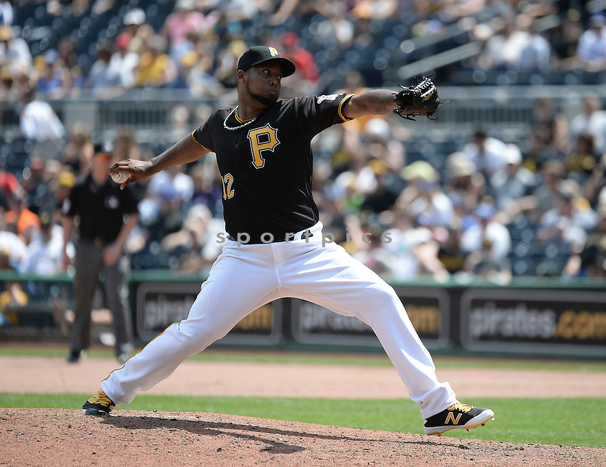 Pittsburgh Pirates Juan Nicasio (12) during a game against the Los Angeles Dodgers on June 27, 2016 at PNC Park in Pittsburgh, PA. The Dodgers beat the Pirates 4-3.