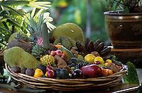 """Océanie/Australie/Queensland/Env de Mossman : Plateau de fruits exotiques chez Alan et Suzan Carle au """"Botanical Ark"""""""