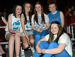 Grainne Brady, Laura Devine, Cory Marry, Ellen Campbell and Hannah Martin who took part in the Schools Dance Allstars finals at the TLT. Photo:Colin Bell/pressphotos.ie