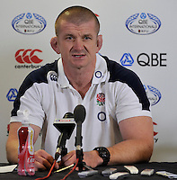 Twickenham, England. England Forwards coach Graham Rowntree during the England training and Media session during the England captains run for the QBE Internationals England v Australia at Twickenham Stadium on 17 November. Twickenham, England, November 16. 2012.