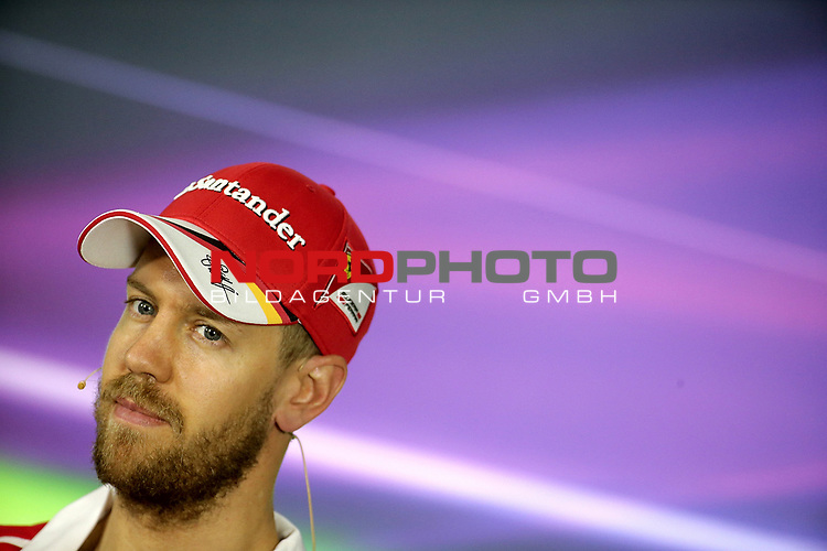 23.03.- 26.03.2017 Albert-Park-Circuit, Melbourne, AUS, F1, Formula 1 Rolex Australien Grand Prix, Race01, im Bild <br /> <br /> Sebastian Vettel (GER#5), Scuderia Ferrari bei der  offiziellen Pressekonferenz der FIA   <br /> <br /> Foto &copy; nordphoto / Bratic
