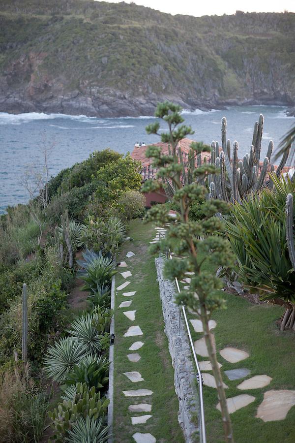 Pathways of the Cliffside Villa.