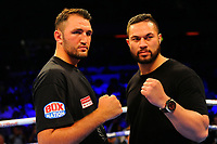 Hughie Fury (L) and Joseph Parker during a Boxing Show at the Copper Box Arena on 8th July 2017