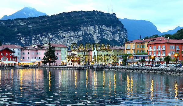 LAGO DI GARDA, ITALY - Evening time around the marina and harbour in Torbole on 17 October 2015 in Lago di Garda, Italy<br /> <br /> CAP/ROS<br /> &copy;ROS/Capital Pictures