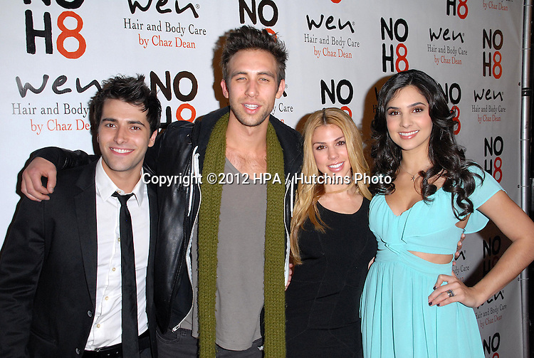 LOS ANGELES - DEC 12:  Freddie Smith, Blake Berris, Kate Mansi, Camila Banus arrives to the NOH8 4th Anniversary Party at Avalon on December 12, 2012 in Los Angeles, CA