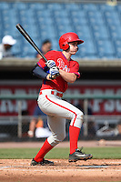 John Aiello (46) of Germantown Academy in Lansdale, Pennsylvania playing for the Philadelphia Phillies scout team during the East Coast Pro Showcase on August 1, 2014 at NBT Bank Stadium in Syracuse, New York.  (Mike Janes/Four Seam Images)