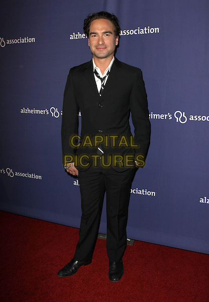 "JOHNNY GALECKI.18Th Annual ""A Night at Sardi's"" Benefitting The Alzheimer's Association held At The Beverly Hilton Hotel, Beverly Hills, California, USA..March 18th, 2010.full length black suit hand in pocket .CAP/ADM/KB.©Kevan Brooks/AdMedia/Capital Pictures."